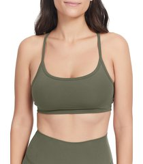 sage collective women's lived in racerback bralette - bone - size s