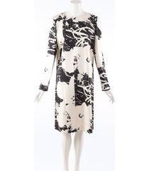 calvin klein 205w39nyc andy warhol digital print floral dress black/white sz: s