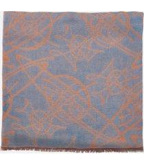 vivienne westwood women's scribble logo scarf - blue