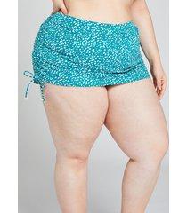 lane bryant women's drawstring swim skirt 30 animal dot