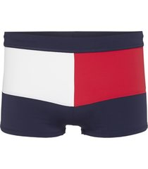 tommy hilfiger zwembroek - navy blazer met colour-blocked vlag-s