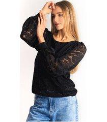 blusa para mujer en poliamida color-negro-talla-xl