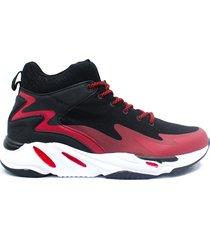 zapatillas en bota para hombre op marto-h3 - rojo