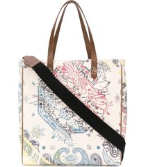 golden goose bandana canvas tote - neutrals