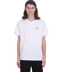 ami alexandre mattiussi ami de coeur t-shirt t-shirt in white cotton
