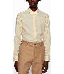 boss men's dobby slim-fit shirt