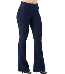 calça its&co fitness york bootcut azul jeans