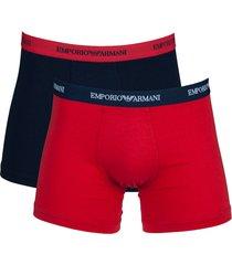 armani boxershort ea 2-pak rood-blauw