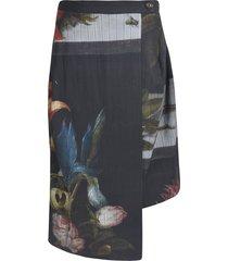 vivienne westwood floral print pleated skirt