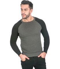 suéter para hombre gris negro