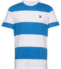 wide stripe t-shirt t-shirts short-sleeved blå lyle & scott
