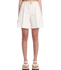 jil sander shorts in beige cotton