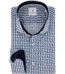 blue industry shirt blauwe print