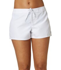women's o'neill saltwater solid boardshorts, size 9 - white