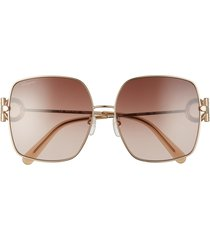 women's salvatore ferragamo 59mm gradient square sunglasses -