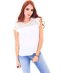 blusa sideral com renda off white