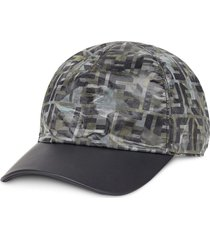 fendi camouflage ff print cap - grey