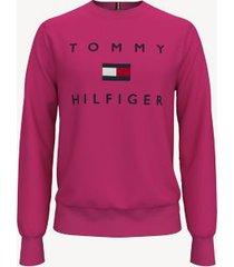 tommy hilfiger men's essential logo sweatshirt beetroot purple - xxxl