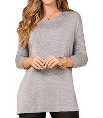 blusa kasandra gris para mujer croydon