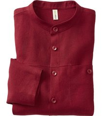 linnen overhemd 1/1-mouw, bordeaux s