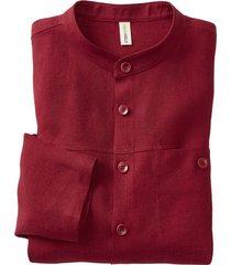 linnen overhemd 1/1-mouw, bourgogne xxl