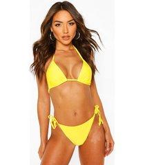 basic triangle bikini, yellow
