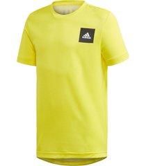 camiseta adidas jb tr aero amarelo - amarelo - menino - dafiti