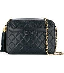 chanel pre-owned 1991-1994 single chain shoulder bag - black