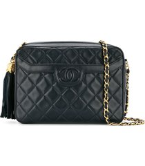 chanel pre-owned 1991-1994 cc tassel shoulder bag - black
