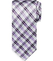 awearness by kenneth cole purple plaid narrow tie