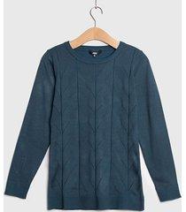 sweater ash liso con diseño verde - calce ajustado