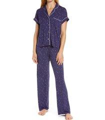 women's ugg jersey pajamas, size x-small - blue