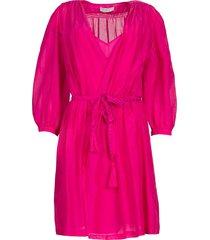 jurk met pofmouwen alba  roze