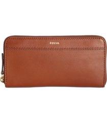 fossil tiegan clutch leather wallet