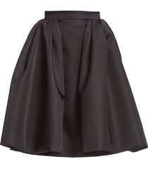 prada re-nylon gabardine wide skirt - black
