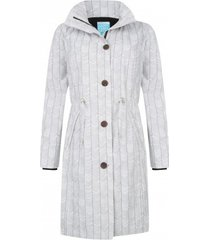 happyrainydays regenjas coat bodille stripes off white black