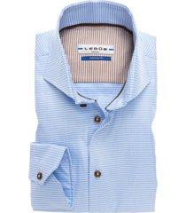 blauw geruit ledub overhemd tailored fit two ply