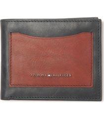 tommy hilfiger men's colorblocked rfid passcase wallet