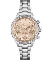 boss women's hera stainless steel bracelet watch 38mm