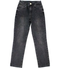 liu-jo black 5-pocket jeans with rhinestone applications on the waist