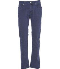 jacob cohen blue cotton trousers