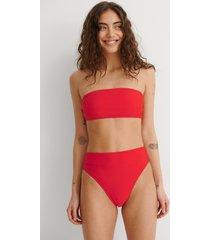 na-kd swimwear bikinitrosa med hög midja - red