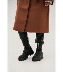 jldrae x na-kd chunky boots med dragkedja fram - black