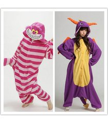 unisex adult cheshire cat spyro dragon cosplay costum anime jumpsuit sleepwear