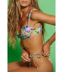 hanna schönberg x na-kd återvunnen bikinitopp med knytdetalj - multicolor