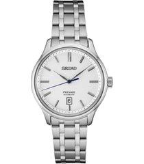 seiko men's automatic presage stainless steel bracelet watch 41.7mm