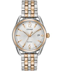 citizen drive from citizen eco-drive women's two-tone stainless steel bracelet watch 36mm