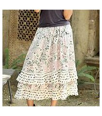 cotton skirt, 'earth collection' (india)