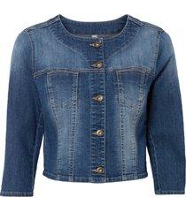 giacca di jeans con maniche a 3/4 (blu) - rainbow