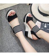 plataforma de verano súper altas cuñas sandalias perfectas de neutra